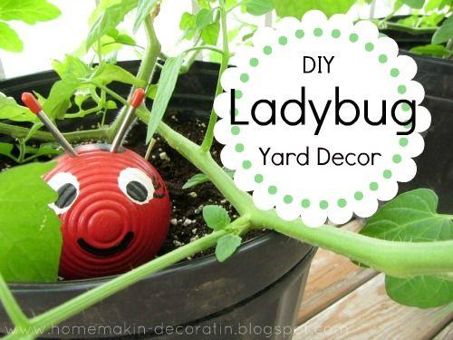 Ladybug Yard Decor
