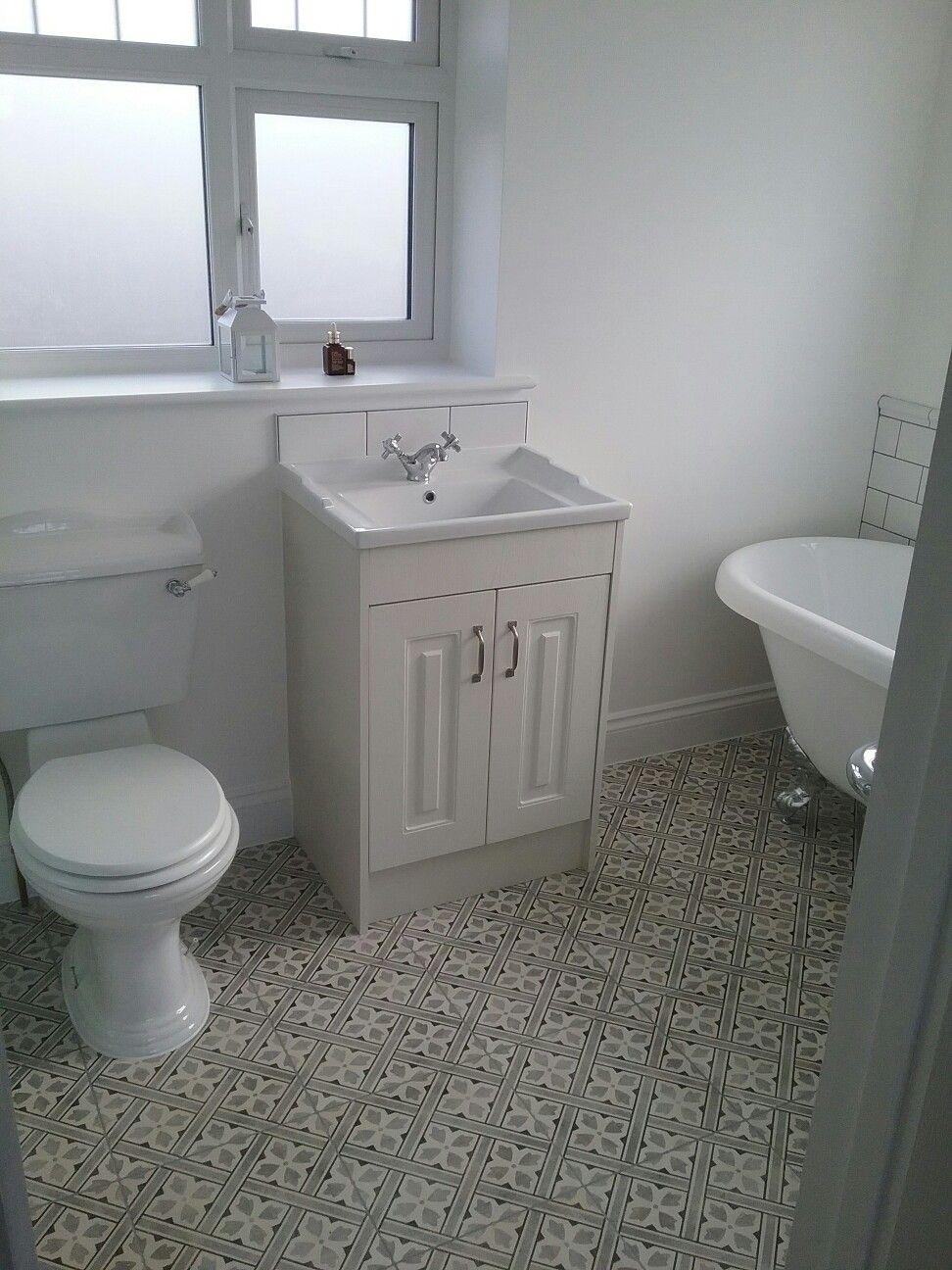 Laura ashley mr jones tiles in charcoal and the bath co york vanity ...