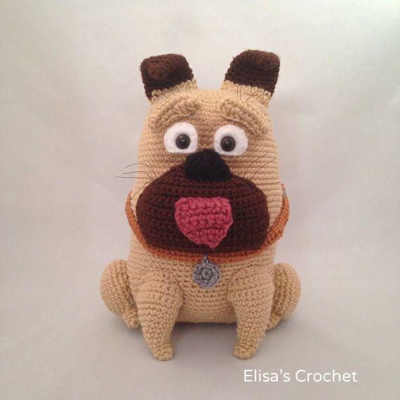 CROCHET PATTERN - Bulldog Dog Amigurumi doll - pdf only   crocheted ...