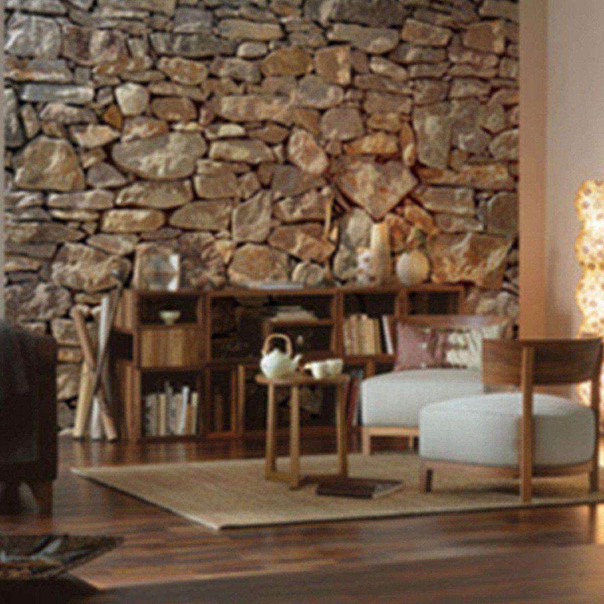 Einfaches hausdesign 2018 stone wall  haus  pinterest  wall murals wall und home decor