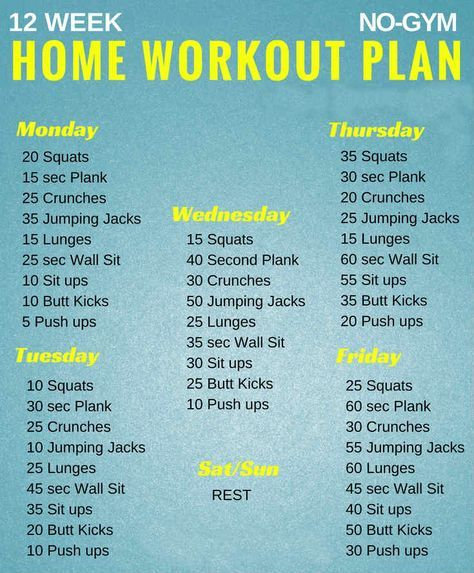 workout plans for men