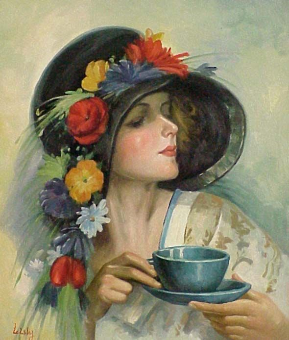 You can order a pot of tea by the number of cups - two, four or six - and there is a luncheon menu with a few desserts.