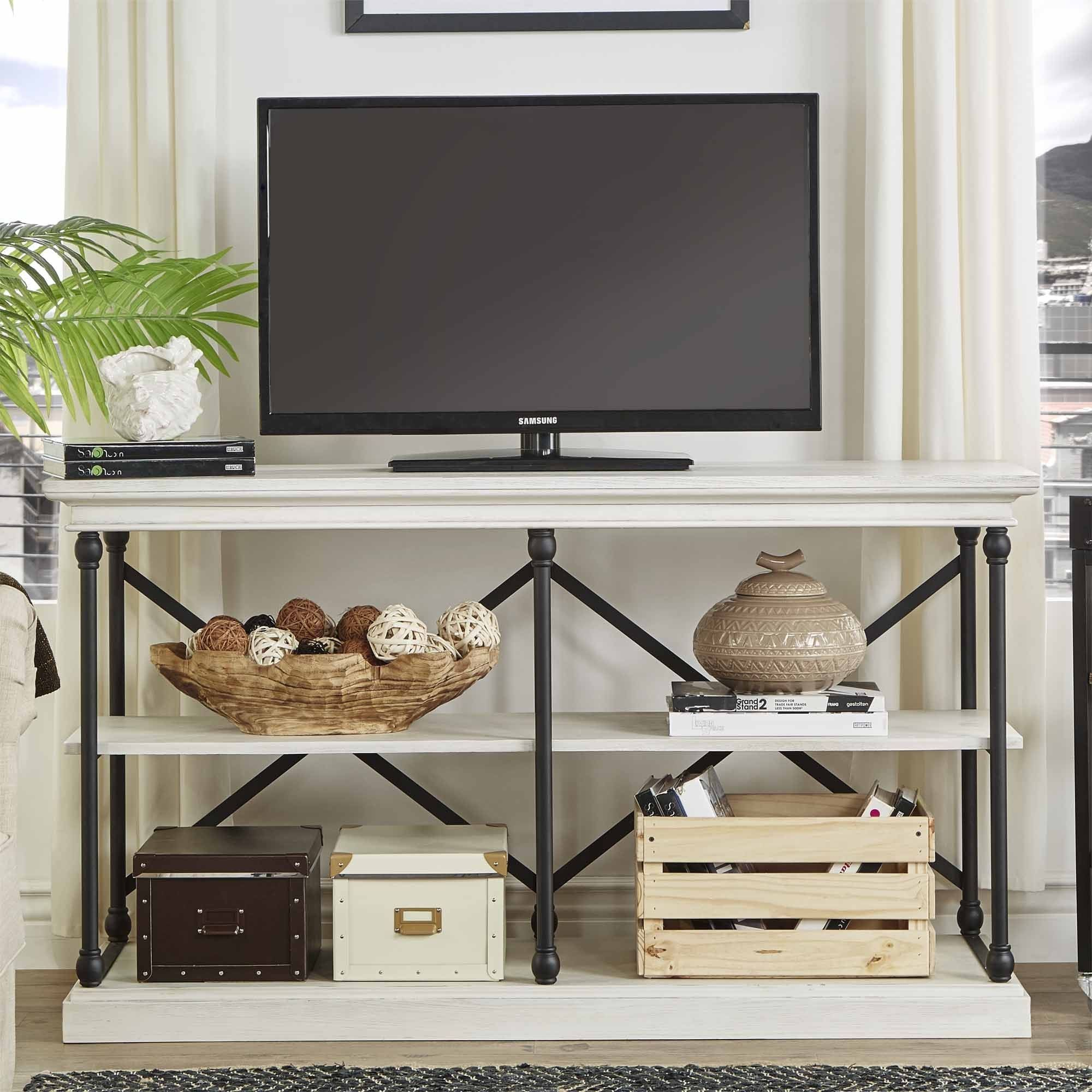 Barnstone Cornice Iron and Wood Entryway Console Table by iNSPIRE Q Artisan  by iNSPIRE Q