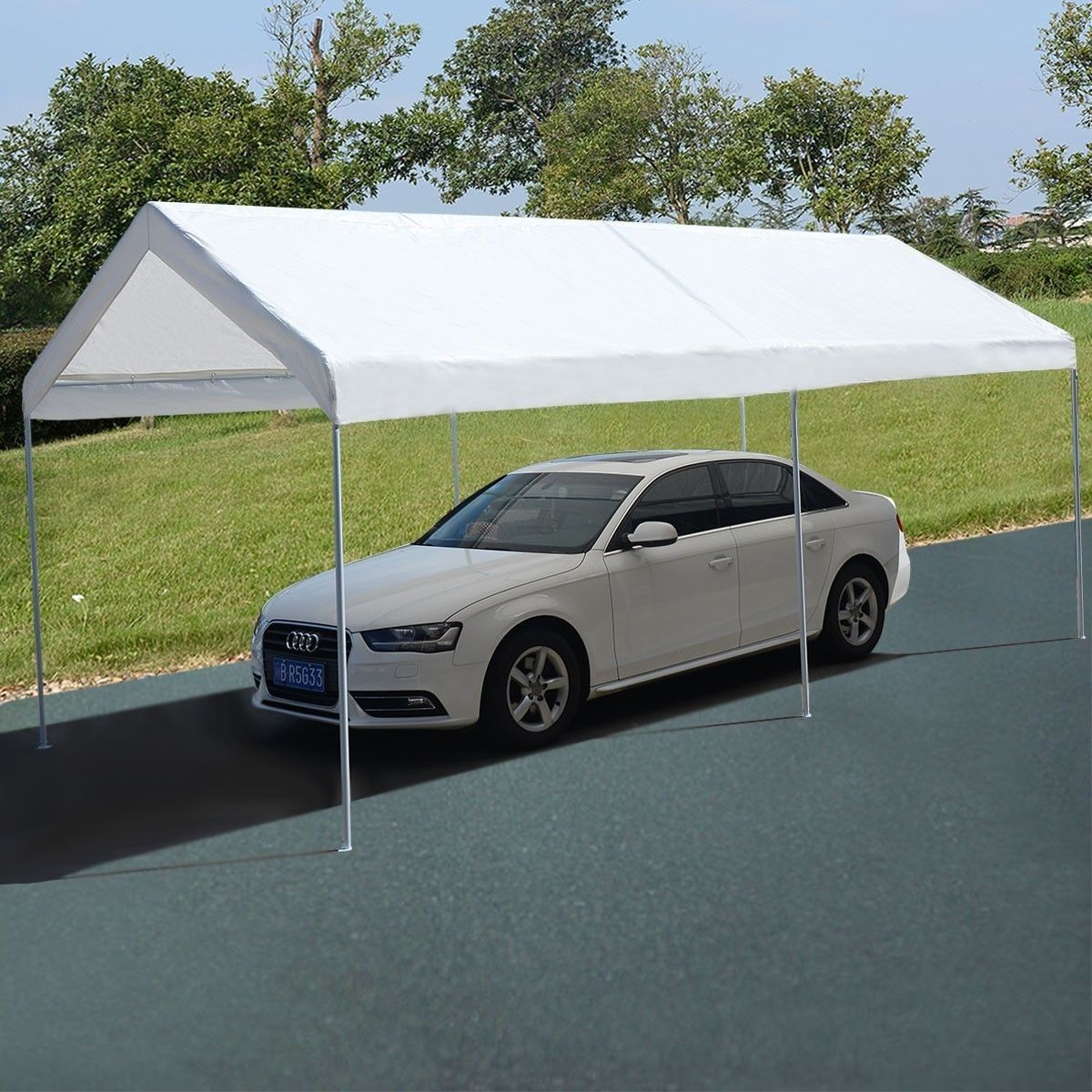 10 x 20 Steel Frame Portable Car Canopy Shelter Canopy