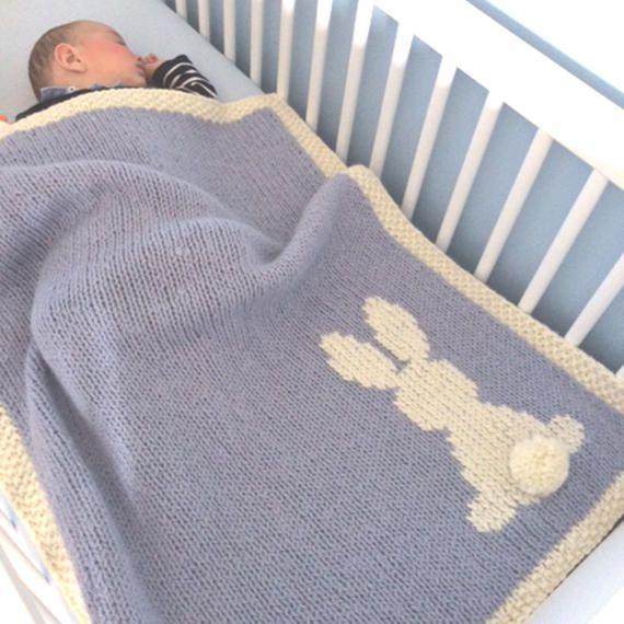 Hase Bunny Decke, Babydecke, Decke, Baby Decke stricken, Kinderbett ...
