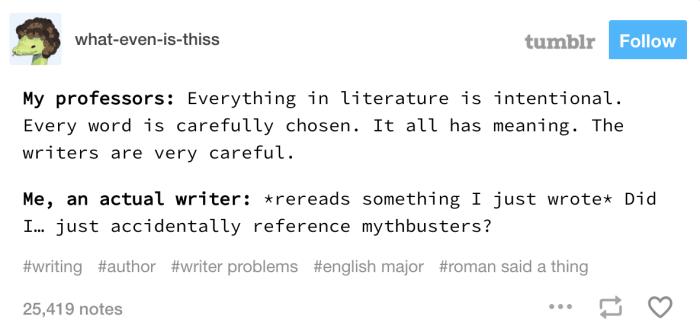 19 Kinda Funny Jokes About Being A Writer Writing Humor Writing Memes Tumblr Writing