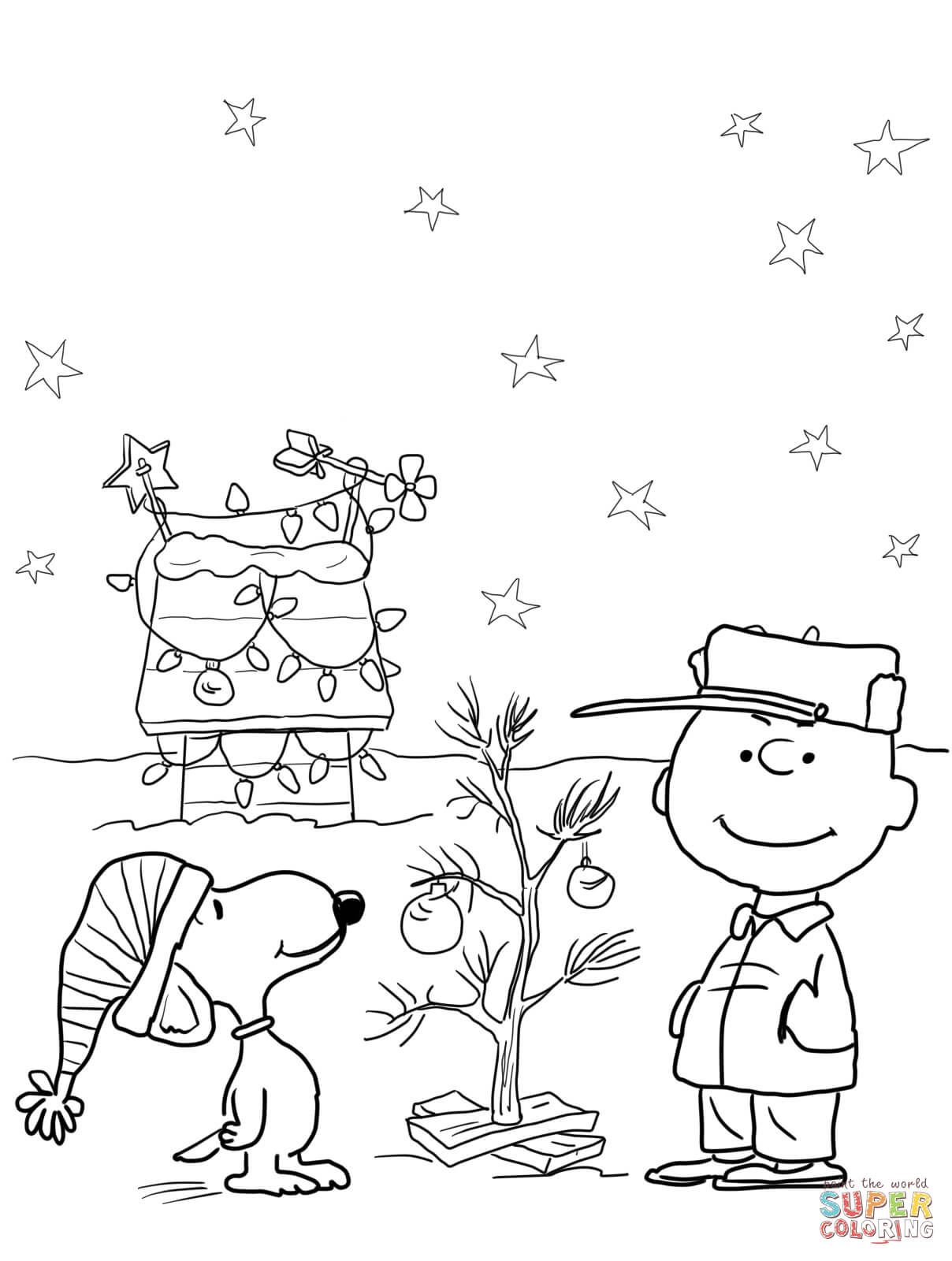 Charlie brown christmas super coloring color pages pinterest