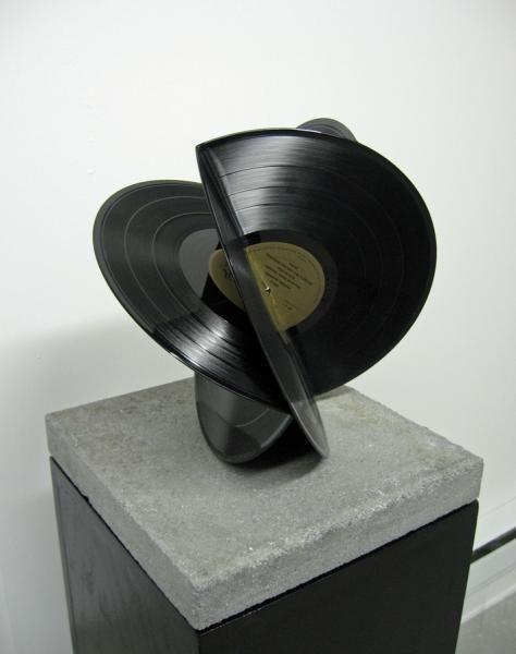 """""""A Concrete Movement (Thriller)"""" (2009) by Karlos Cárcamo (http://karloscarcamo.com)  [ #music #records #sculpture #vinyl ]"""