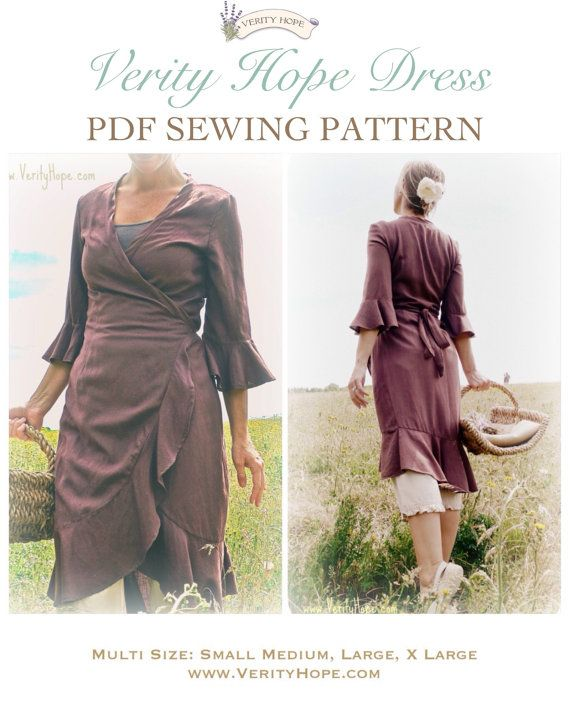 Verity Hope Dress PDF Instant download sewing pattern | Pdf, Dress ...