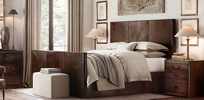 Master bed set marseilles bed collection restoration - Restoration hardware bedroom furniture ...