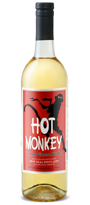 New Deal Hot Monkey Pepper Infused Vodka Label Design Update Flavored Vodka Infused Vodka Stuffed Peppers