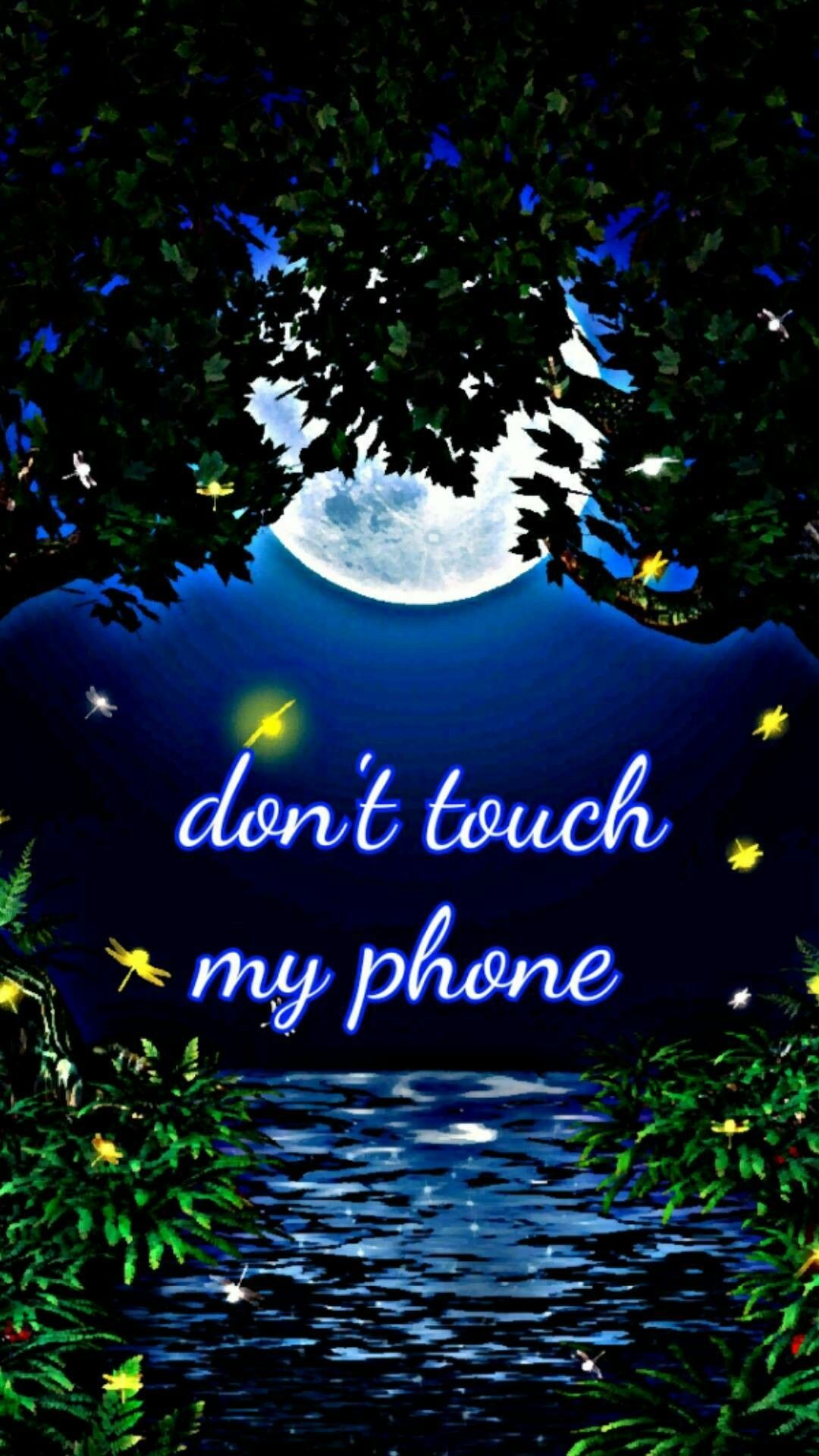 Full Moon Don T Touch My Phone Dont Touch My Phone Wallpapers Phone Lock Screen Wallpaper Joker Iphone Wallpaper