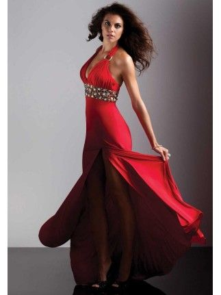 Sexy High Slit Red and Black Masquerade Prom Dresses | Etiquette ...