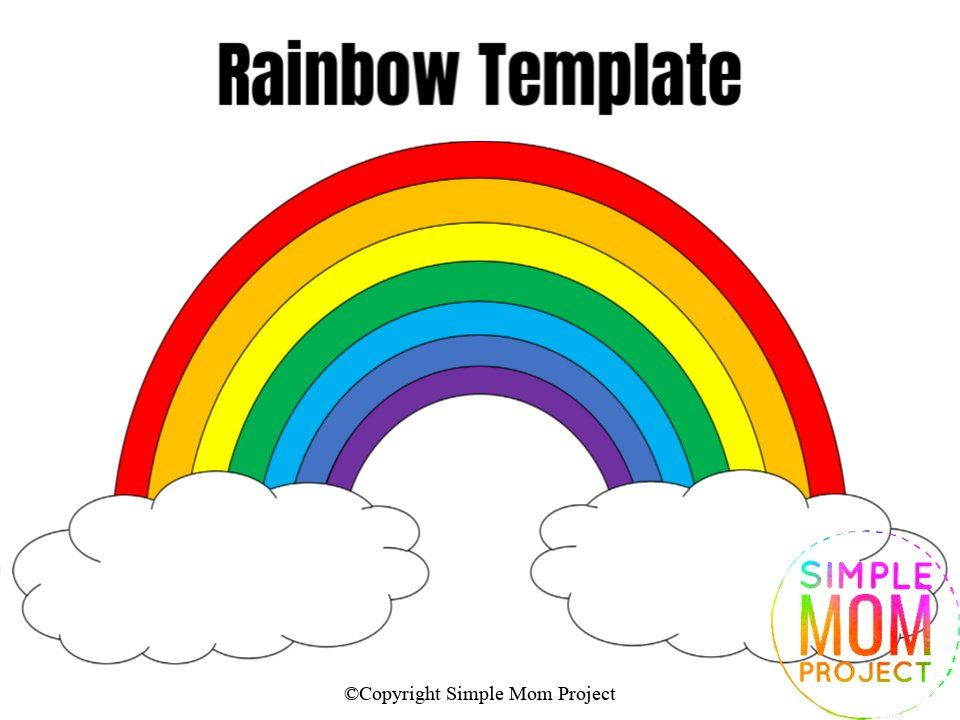 Free Printable Rainbow Templates In Large And Small In 2020 Diy