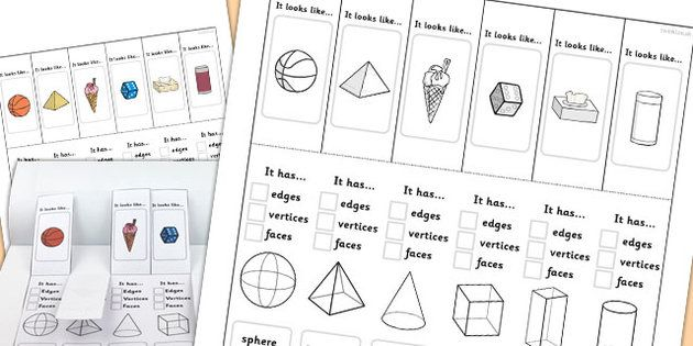 3D Shape Properties Interactive Visual Aids - 3D shapes, shapes ...