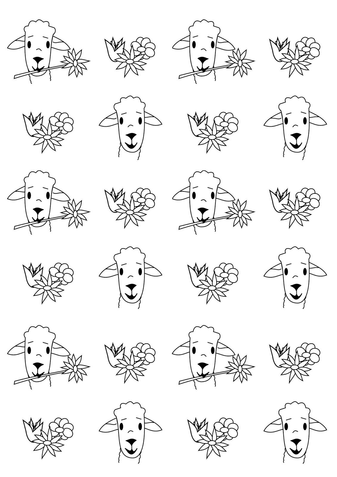 FREE printable spring coloring page | kids activity spring | sheep ...