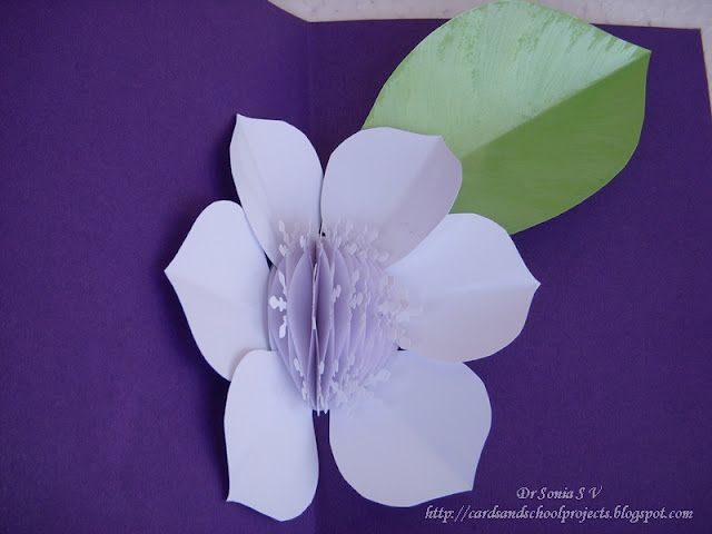 Honeycomb Flower Pop Up Card tutorial