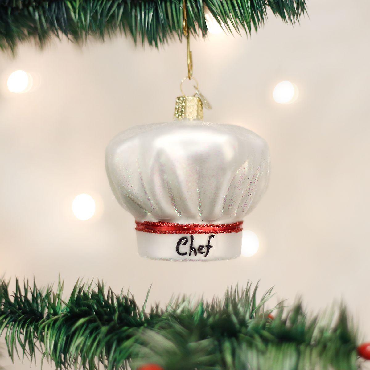 OLD WORLD CHRISTMAS CHEF/'S HAT GLASS CHRISTMAS ORNAMENT 32239