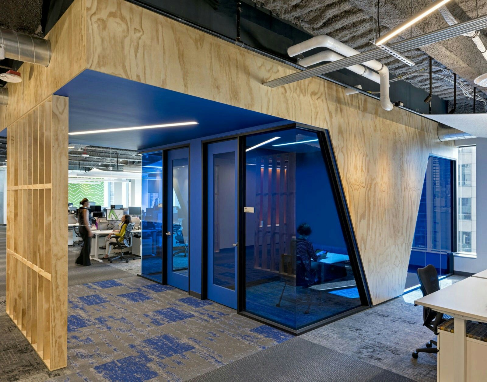 Meeting Room Blue Modern Office Design Commercial And Office Architecture Office Design