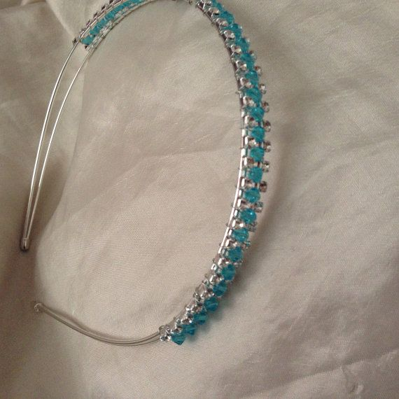 Blue or red sparkle headband  on Etsy, £15.00