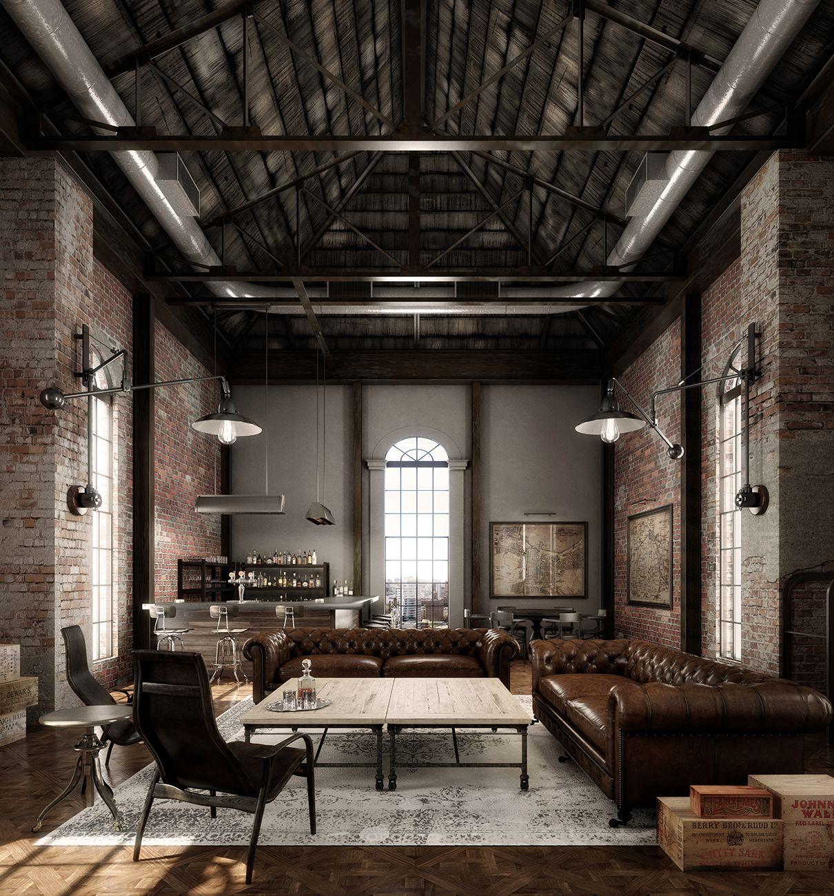 Beeindruckend Urban Industrial Referenz Von Commercial New York Building - Speak Easy