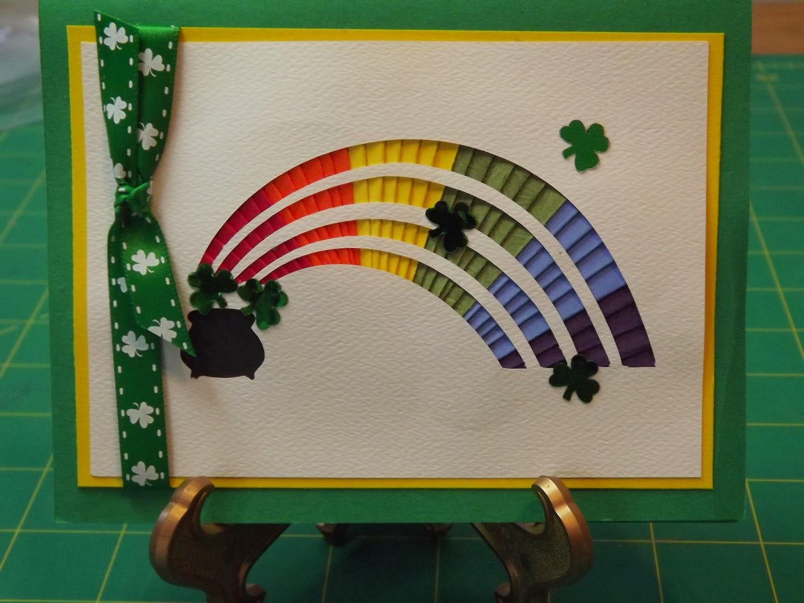 St. Patrick's Day Iris Folding Card