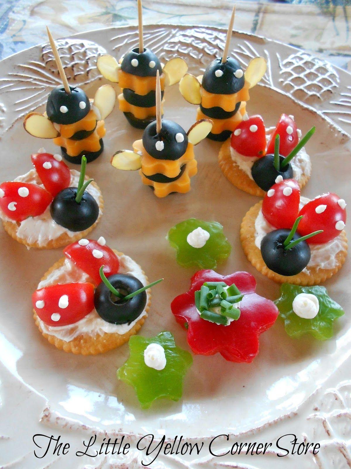 cute appetizer ideas for a garden party, tea party, or ...
