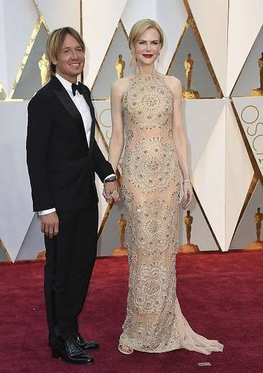 Nicole Kidman in a Armani Privé gown accessorised with Harry Winston jewels