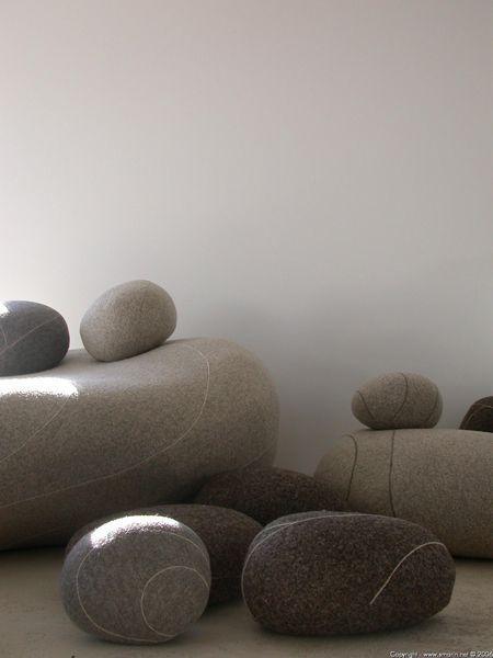 coussins galet livingstone felting pinterest. Black Bedroom Furniture Sets. Home Design Ideas