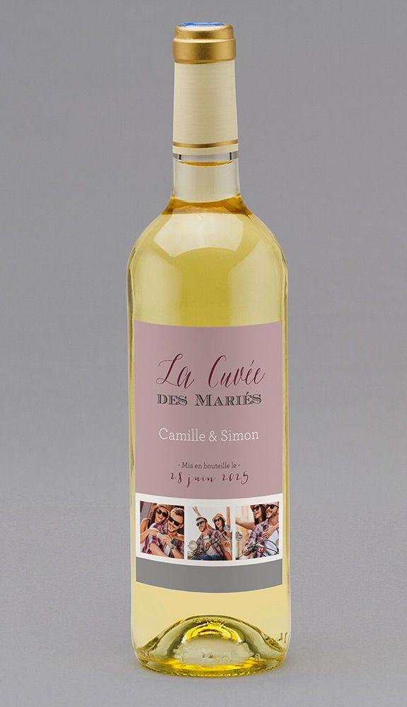 Etiquette Bouteille De Vin Mariage
