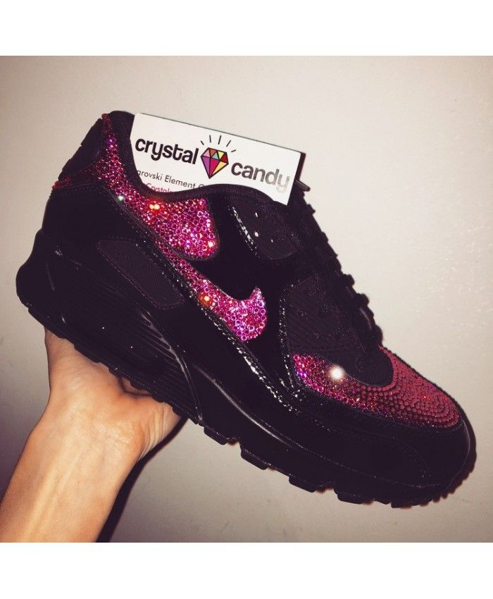 Nike Air Max 90 Crystal Candy Black Pink Trainer  02f5da820c