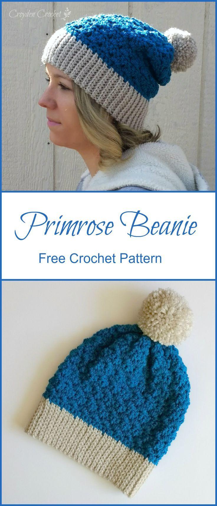 Primrose Slouchy Beanie Crochet Pattern | Gorros, Gorros crochet y Chal