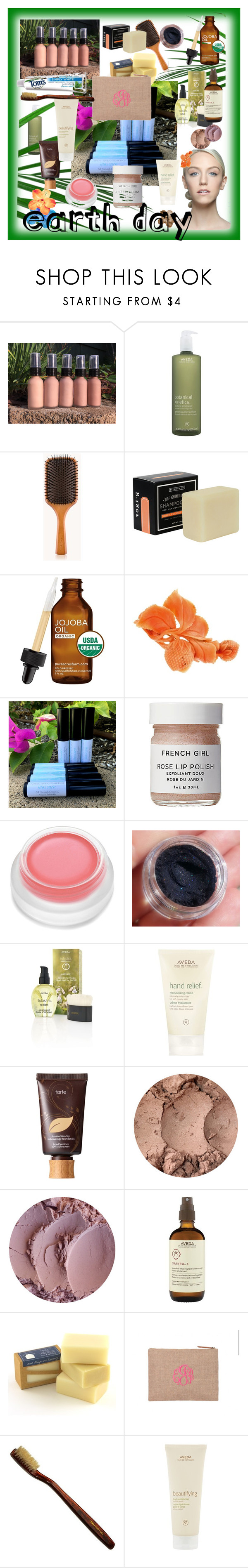 """""""Be Kind to Mother Earth 🌏 Day"""" by klm62 ❤ liked on Polyvore featuring beauty, Aveda, French Girl, rms beauty, tarte and Swissco"""