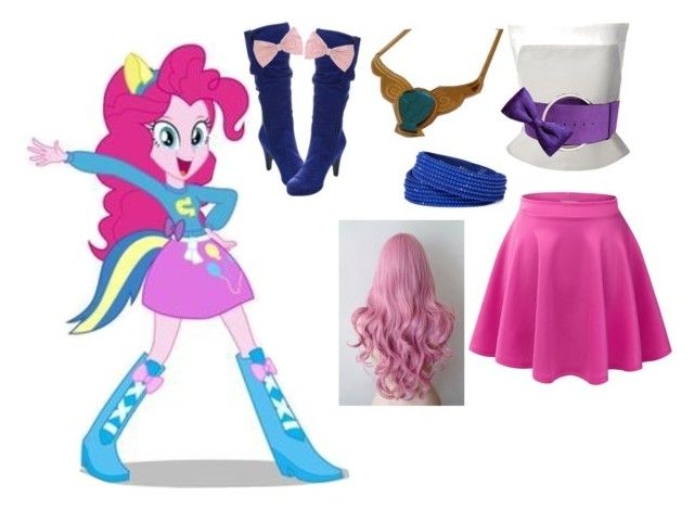 """Pinkie pie"" by animegurrl ❤ liked on Polyvore featuring Gareth Pugh, COSTUME NATIONAL, ZuZu Kim, LE3NO, Arizona, Wild Diva and PINK BOW"