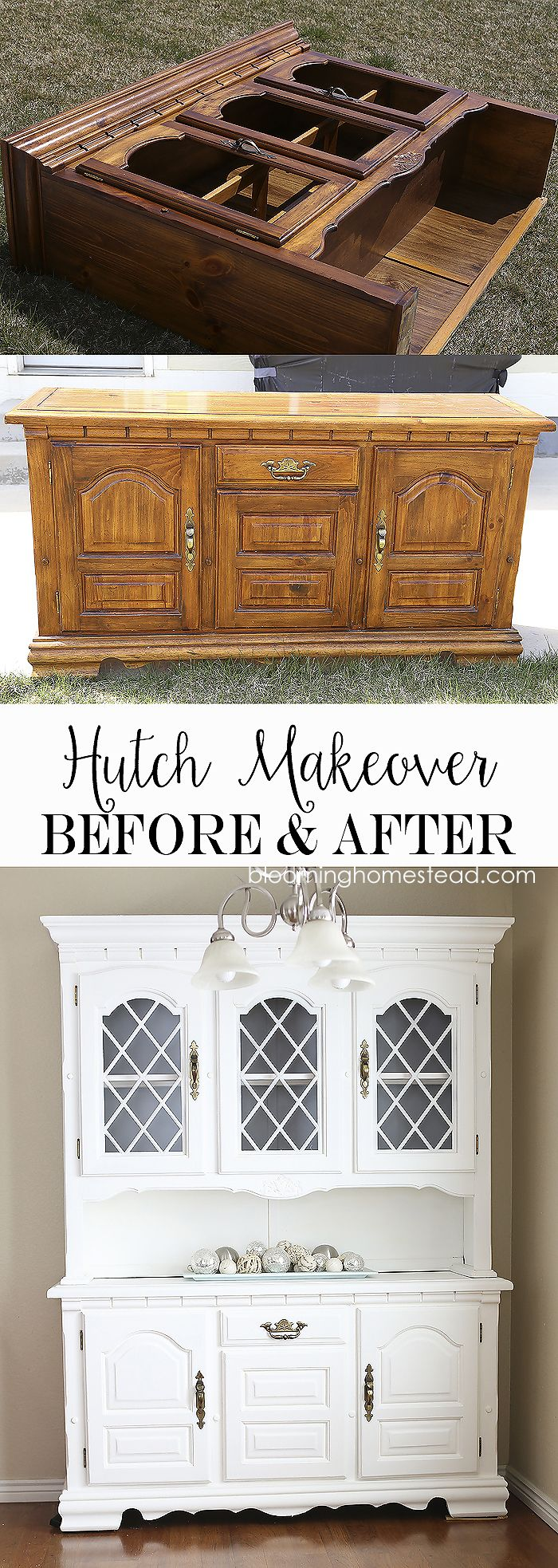 China Hutch Makeover From Start To Finish Using Americana Decor Chalky Decoartprojects