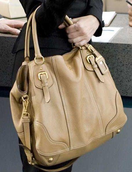 6fe9ad98985d Prada handbag from the movie The Proposal cervo antik shopper tote #B1191