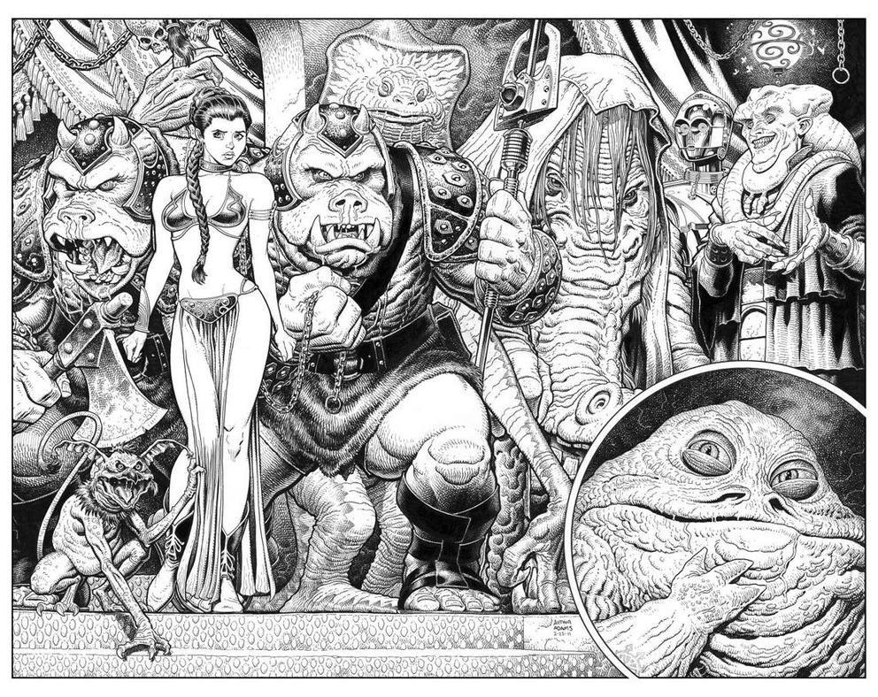 Return Of The Jedi By Art Adams Star Wars Art Star Wars Comics Comic Art