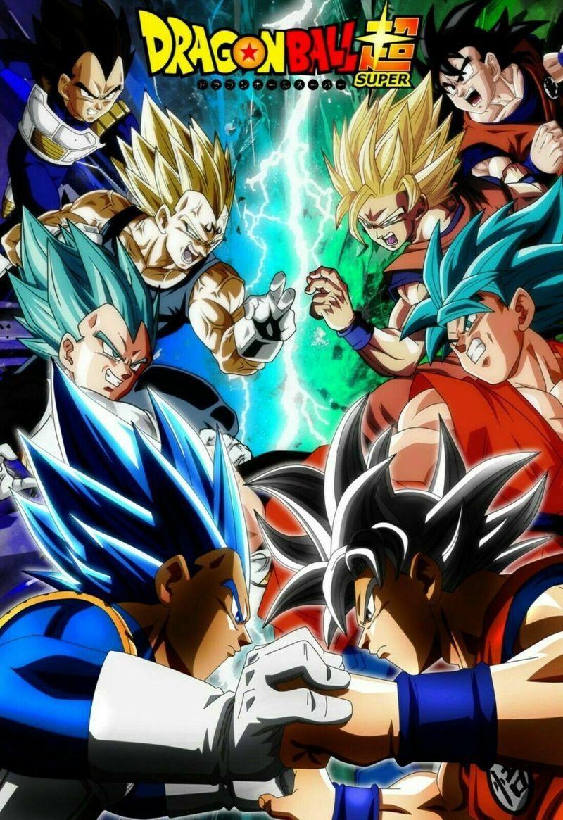 Dragon Ball Super Poster Ultra Instinct Goku Vs Ssj Blue Vegeta Dbz Us Supplier Framed Canvas
