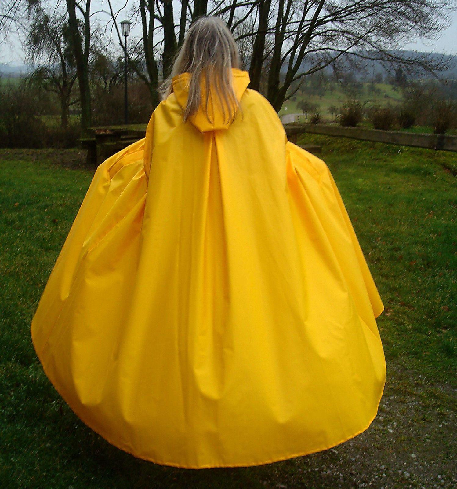 Rain Cape Regencape Raincoat Lack Shiny Vinyl Regenmantel ...