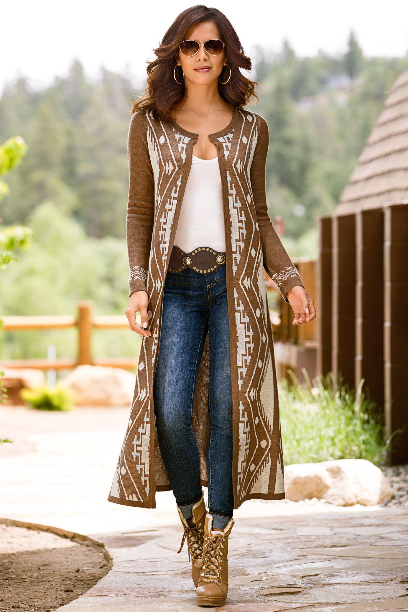 Boho Style | Aztec Duster Sweater Coat. | Modern Boho | Pinterest ...
