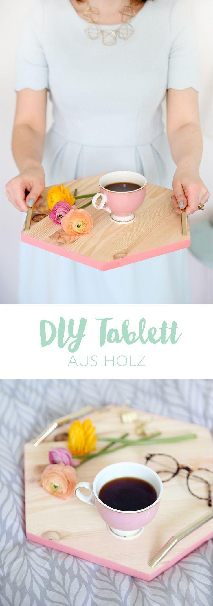 {DIY} Hexagon-Tablett aus Holz einfach selbstgemacht | mein feenstaub