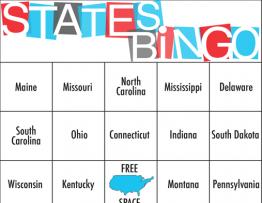 FREE U.S. State Bingo printable