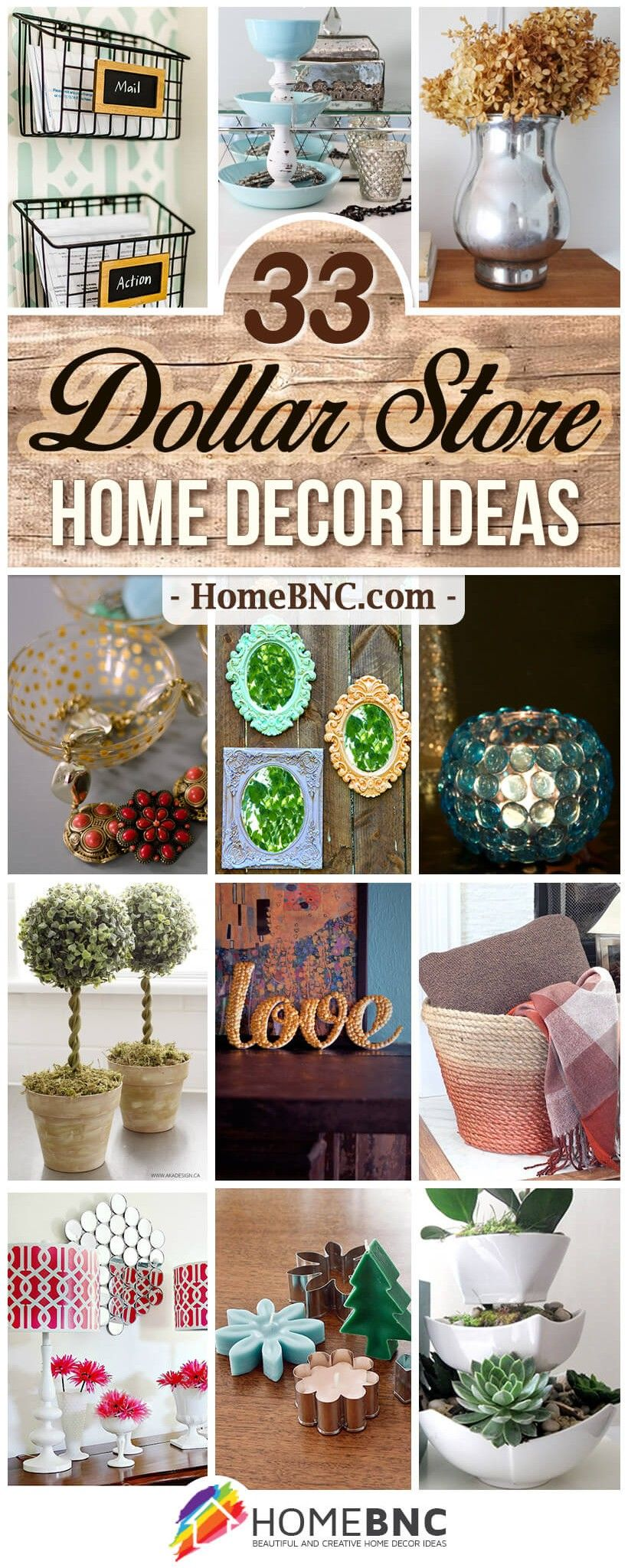 33 Best DIY Dollar Store Home Decor Ideas and Designs for 2018 #cheapdiyhomedecor