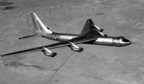 """photoyage: """" Convair YB-60 in flight (S/N 49-2676). (U.S. Air Force photo) """""""