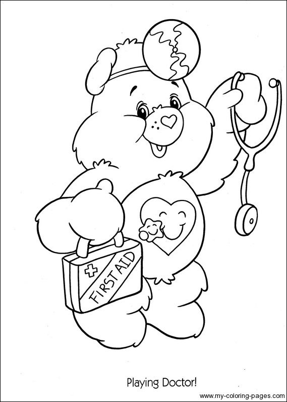 Care Bears Coloring-063 | Pages to color | Pinterest | Care bears ...