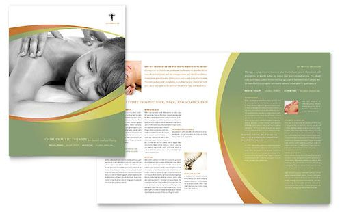 Massage \ Chiropractic Brochure Template Design Layouts - microsoft word tri fold brochure template