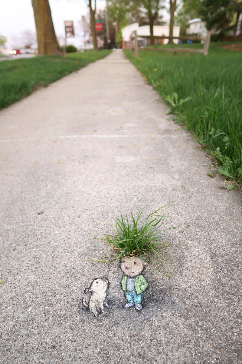 This Chalk Artist Transforms Concrete Into A Whimsical Fantasy World