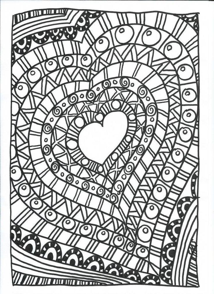 Pingl par g orgina kincaid sur coloriages coeurs coloriage f te des m res coloriage et - Image de coeur a colorier ...