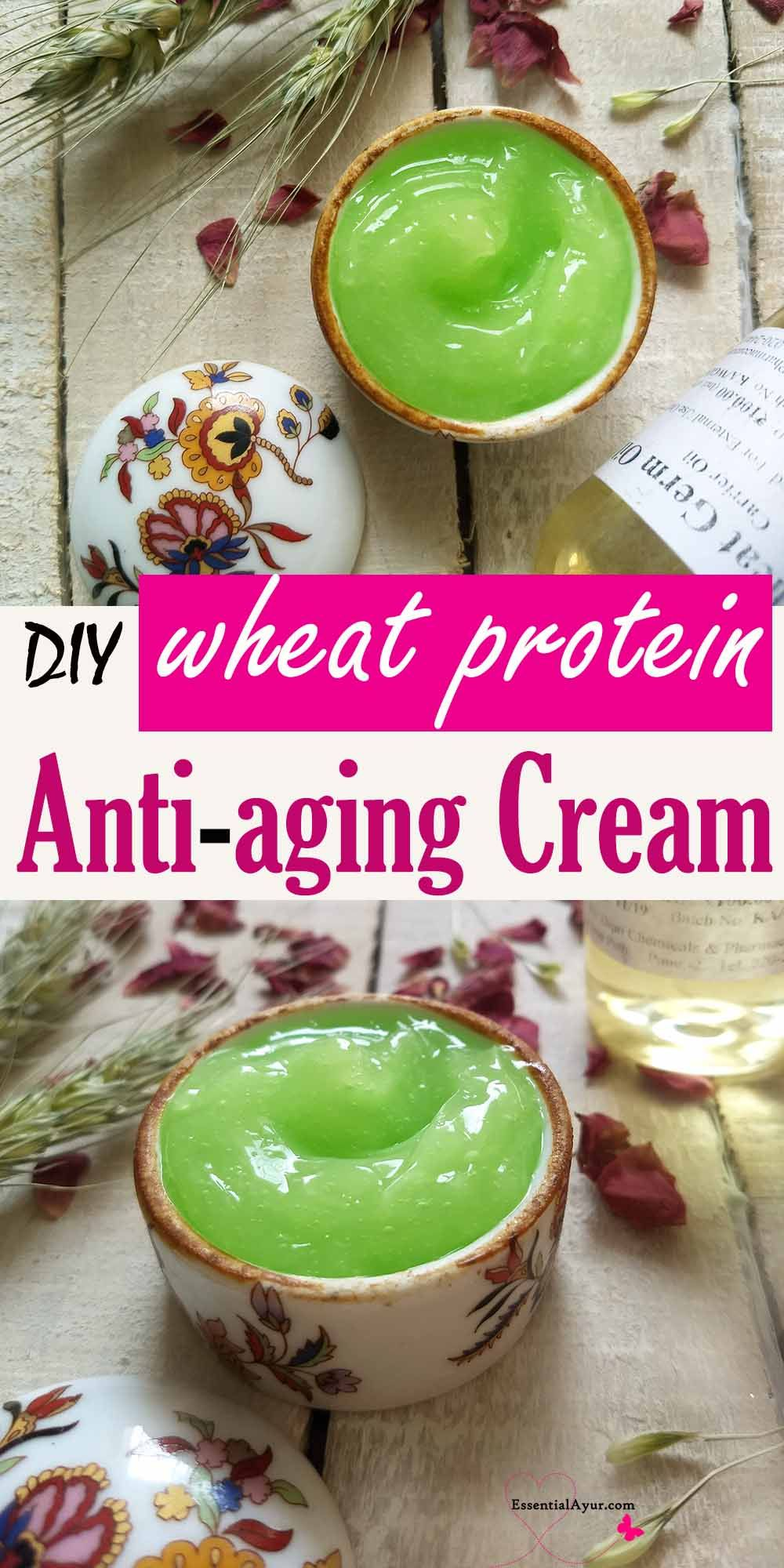 DIY Wheat Germ Protein Antiaging face cream Essential