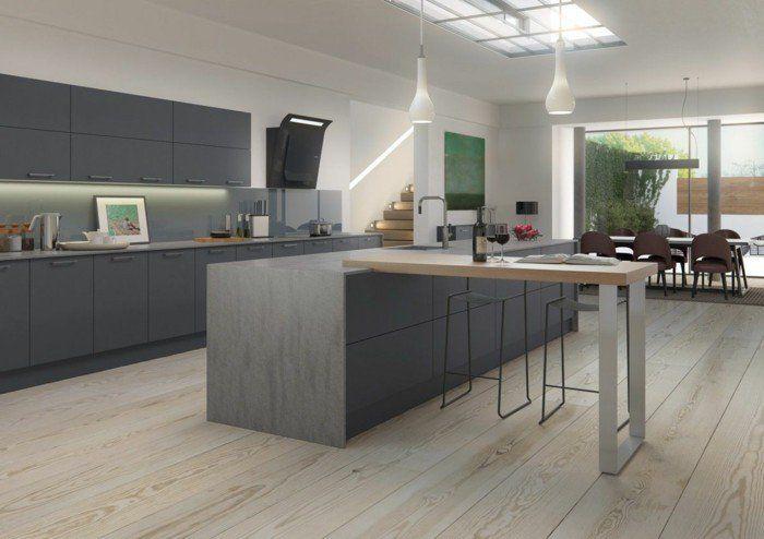 Cuisine gris anthracite - 56 idées pour une cuisine chic et moderne